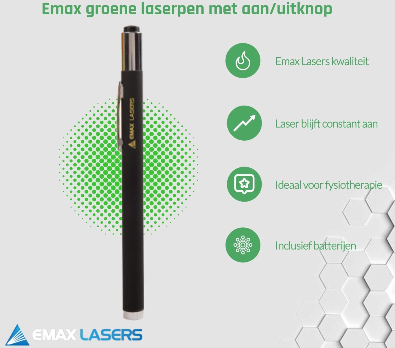 emax groene laserpen met aan-uitknop